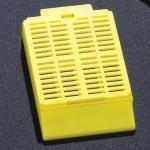 Cassette, Tissue Embedding with Attached Lid, 30� Writing Area, YELLOW, 500/Dispenser Box, 2 Boxes/Unit