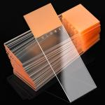 Microscope Slides, Diamond White Glass, 25 x 75mm, 90� Ground Edges, ORANGE Frosted, 72/Box, 20 Boxes/Case (10 Gross)